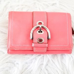 Coach wallet coral color